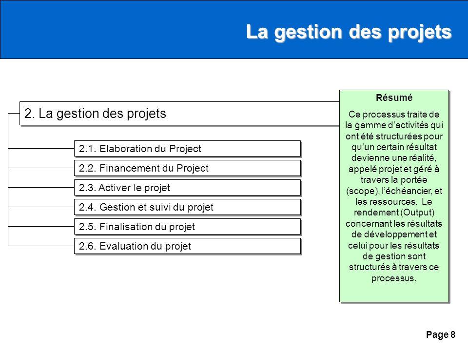 Page 8 2. La gestion des projets 2.1.