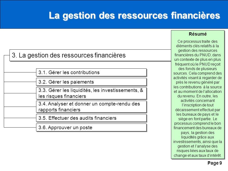 Page 9 3. La gestion des ressources financières 3.1.