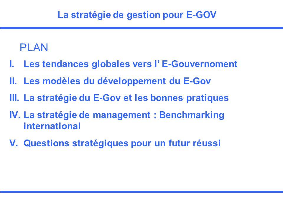 Troisième Partie La stratégie du E-Gov et les bonnes pratiques