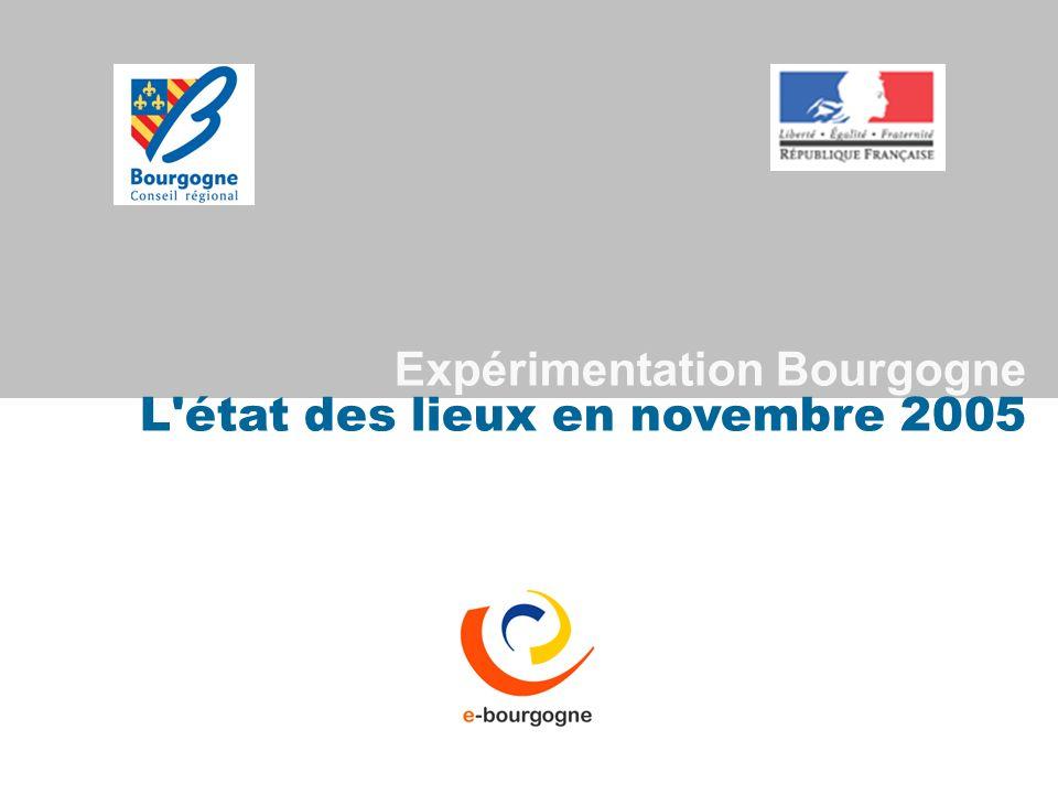 Expérimentation Bourgogne L'état des lieux en novembre 2005