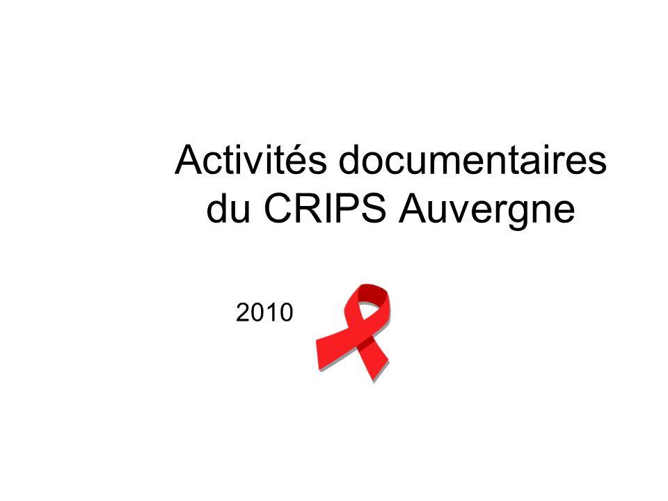 Activités documentaires du CRIPS Auvergne 2010