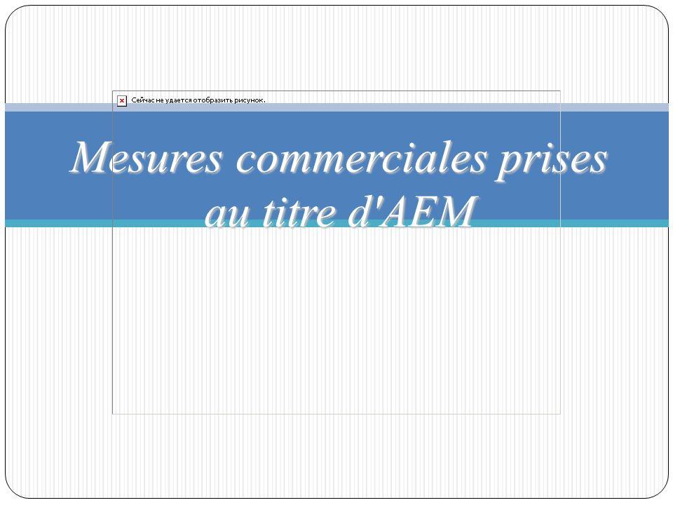 Mesures commerciales prises au titre d AEM
