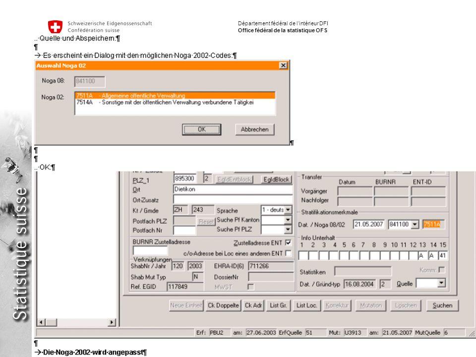 17 Implementation NACE / ISIC Fabio Tomasini Département fédéral de lintérieur DFI Office fédéral de la statistique OFS