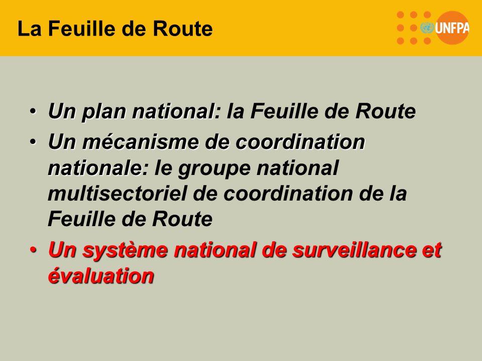 La Feuille de Route Un plan nationalUn plan national: la Feuille de Route Un mécanisme de coordination nationaleUn mécanisme de coordination nationale