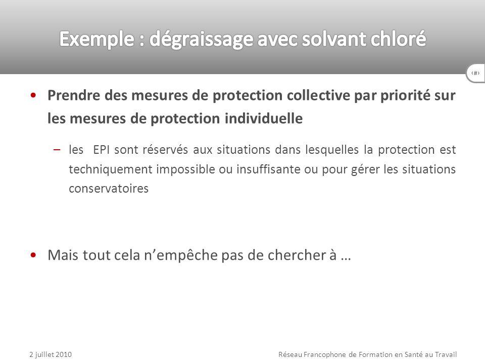 15 Prendre des mesures de protection collective par priorité sur les mesures de protection individuelle –les EPI sont réservés aux situations dans les