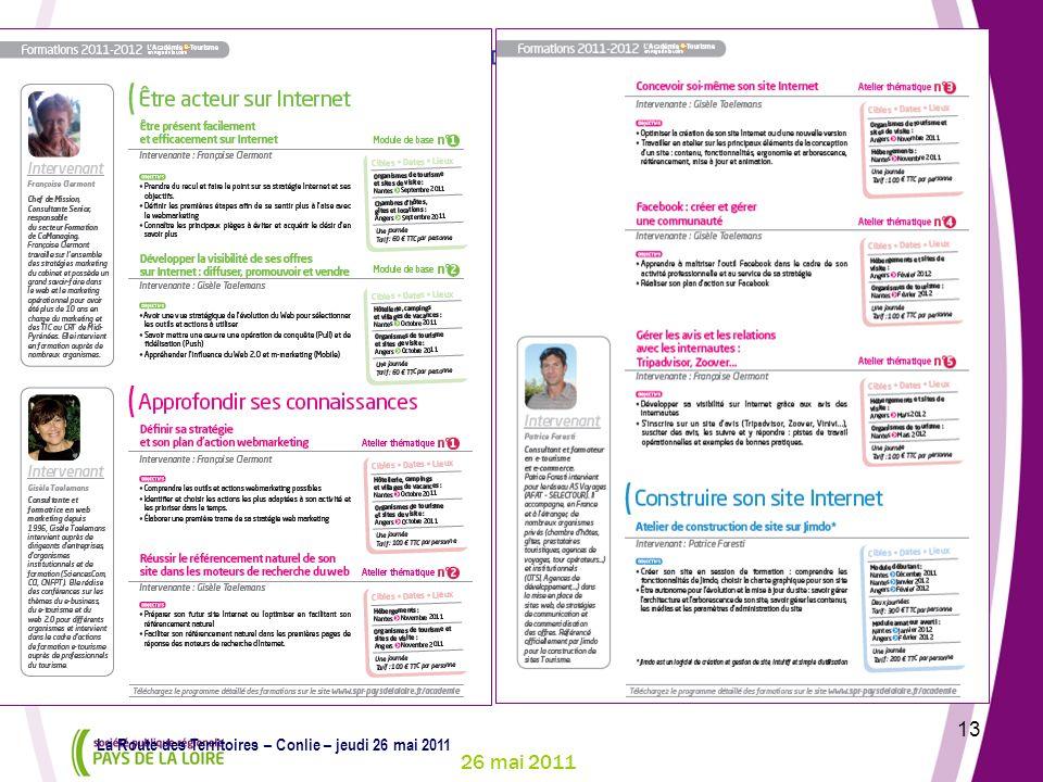 26 mai 2011 13 La Route des Territoires – Conlie – jeudi 26 mai 2011