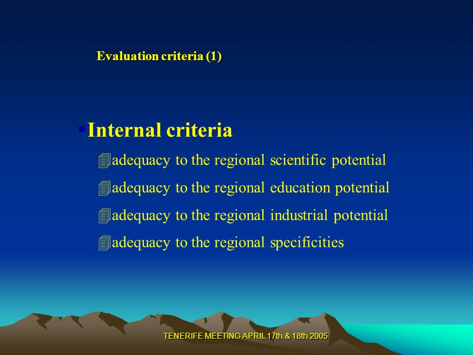 TENERIFE MEETING APRIL 17th & 18th 2005 Objectives of the second stage Identification of the 3 or 4 French regions in competition with Lorraine in each 12 key technologies clusters Mapping and hierarchisation of the technological competences in each selected regions Evaluation of the competitive position of Lorraine in comparison with the other French regions on the 12 key technologies clusters