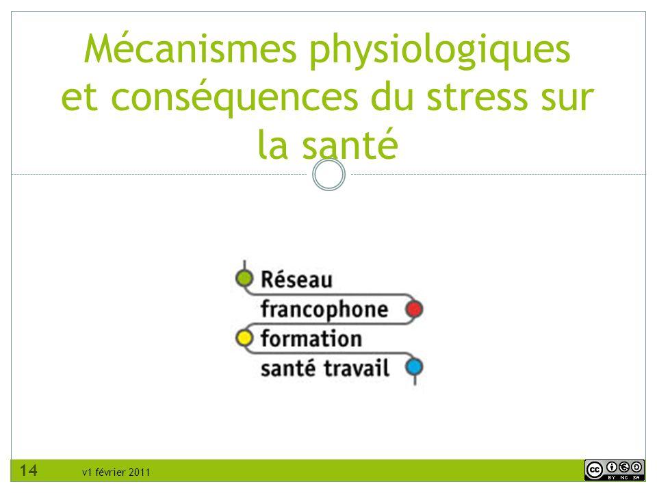 v1 février 2011 Mécanismes physiologiques et conséquences du stress sur la santé 14