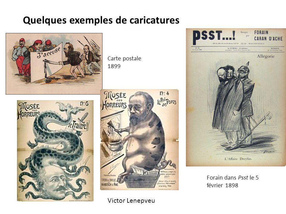 Quelques exemples de caricatures Carte postale 1899 Forain dans Psst le 5 février 1898 Victor Lenepveu