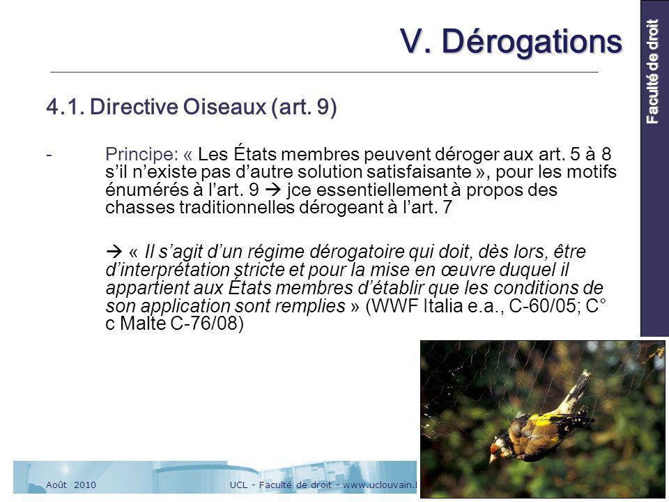 UCL - Faculté de droit - www.uclouvain.be/drtAoût 2010 Faculté de droit V.