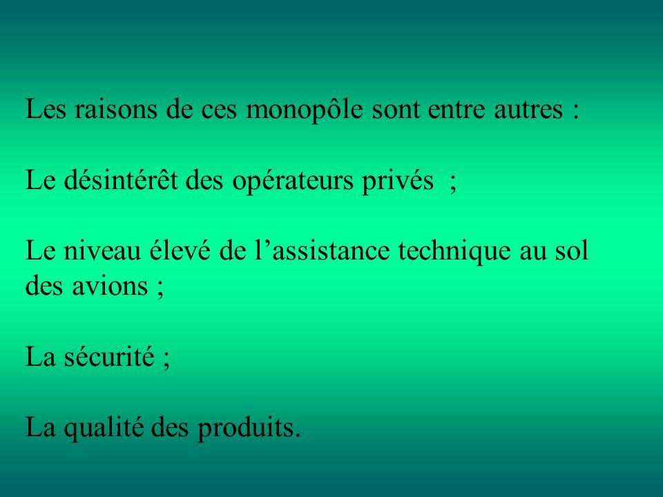 6. Evaluation des implications des monopoles naturels sur la concurrence. Au regard de certains éléments de leurs secteurs dactivités, les entreprises