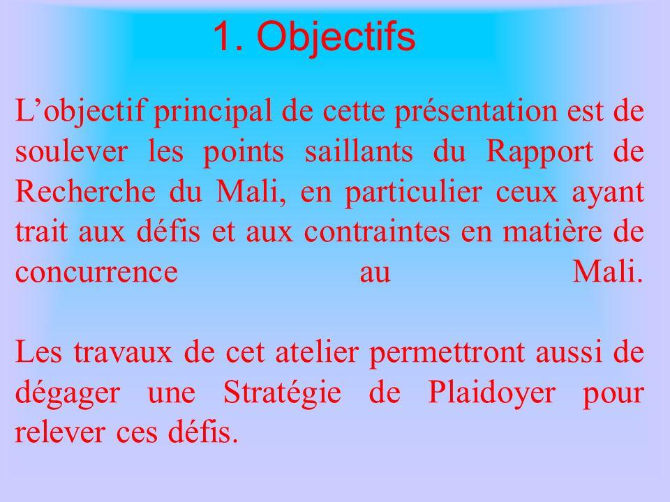 Sommaire 1. Objectif ; Résultats et principaux défis.