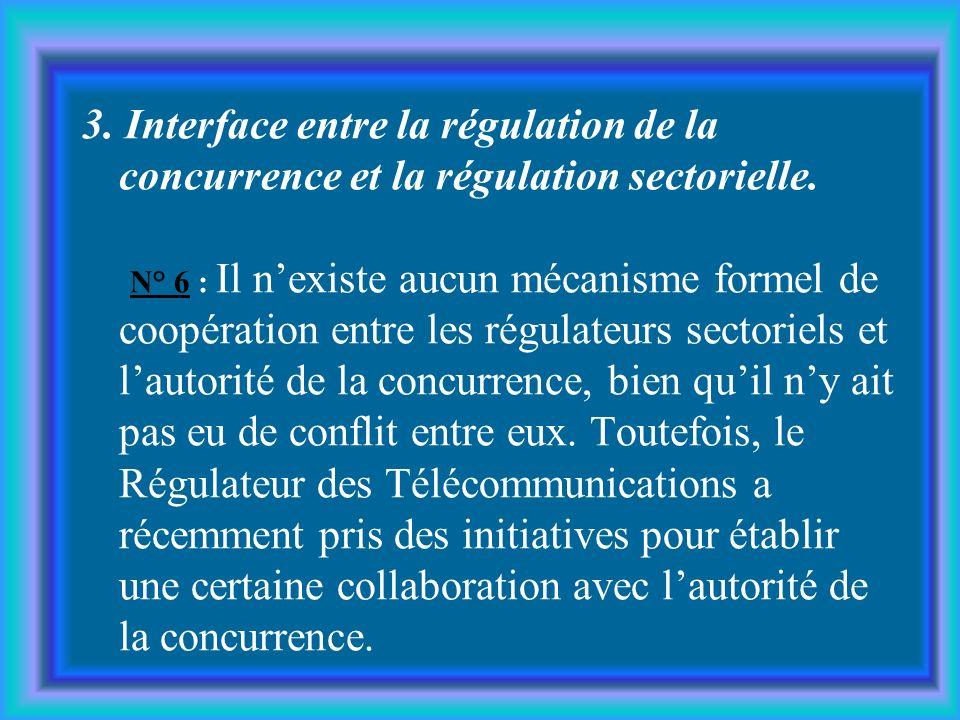 3.Interface entre la régulation de la concurrence et la régulation sectorielle.