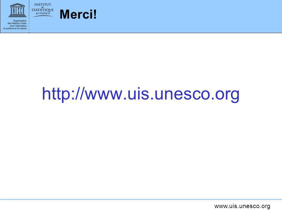 www.uis.unesco.org Merci! http://www.uis.unesco.org