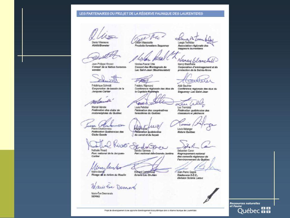 Rapport de la Table des partenaires Recommandation globale : Quà la lumière des résultats obtenus quant à lapproche expérimentée dans le cadre du projet pilote de la réserve faunique des Laurentides, laménagement écosystémique des forêts soit déployé à léchelle du Québec.