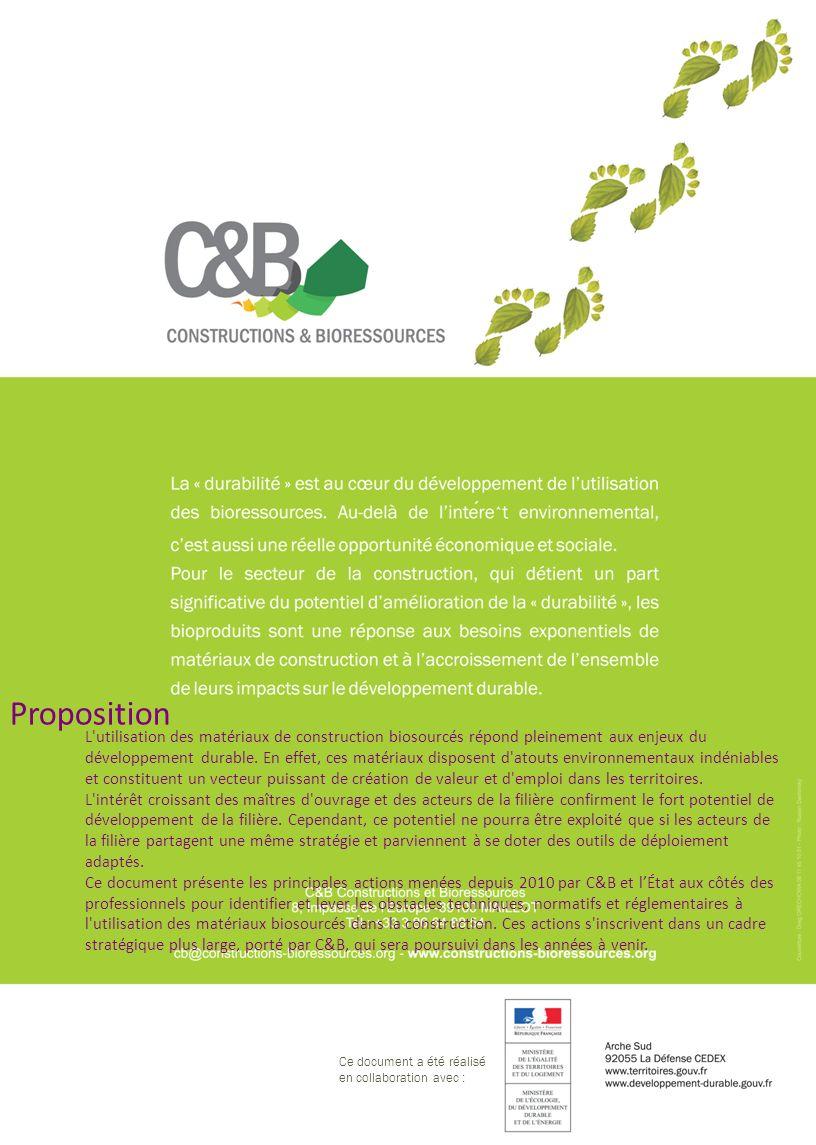 Ce document a été réalisé en collaboration avec : L'utilisation des matériaux de construction biosourcés répond pleinement aux enjeux du développement