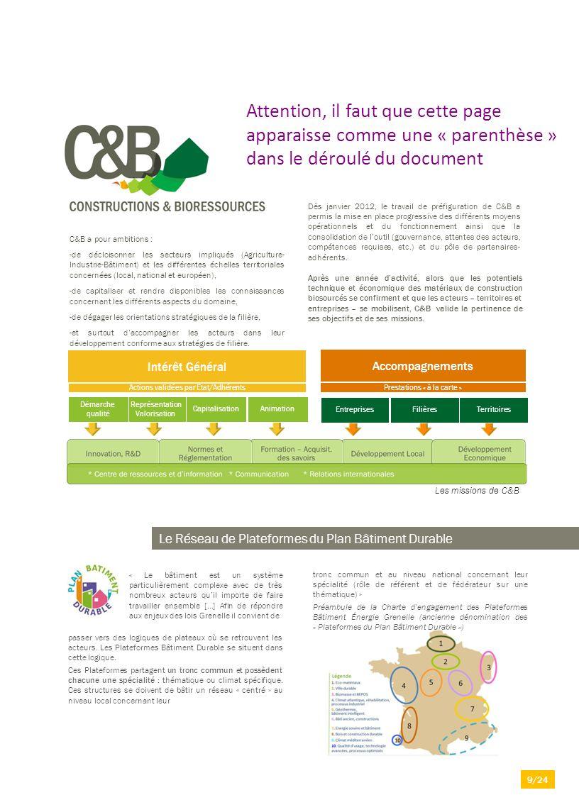 C&B a pour ambitions : -de décloisonner les secteurs impliqués (Agriculture- Industrie-Bâtiment) et les différentes échelles territoriales concernées