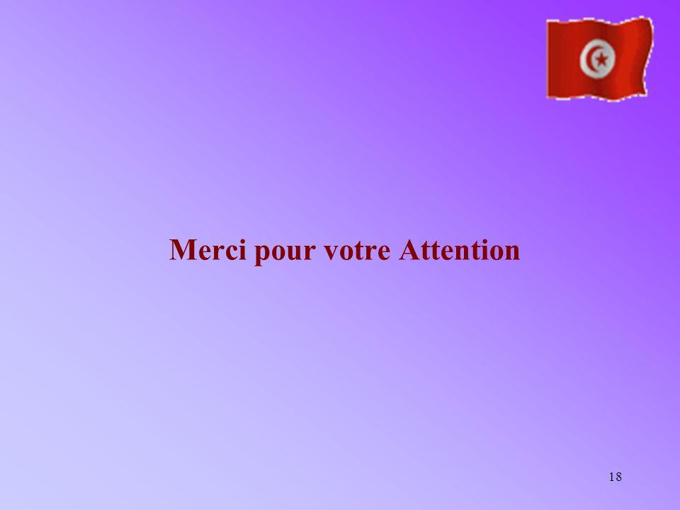 18 Merci pour votre Attention
