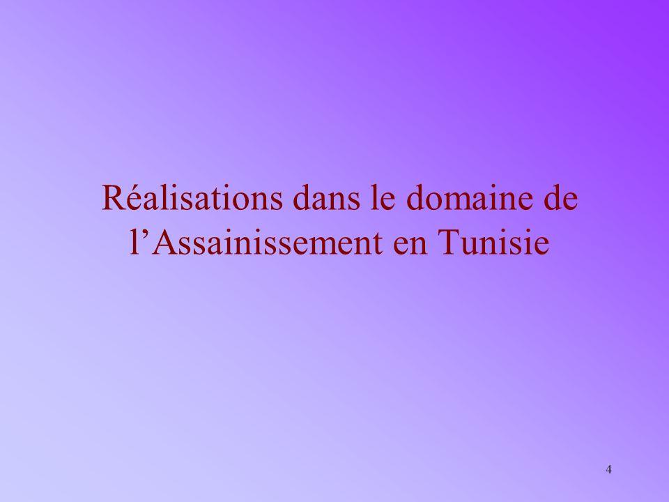 4 Réalisations dans le domaine de lAssainissement en Tunisie