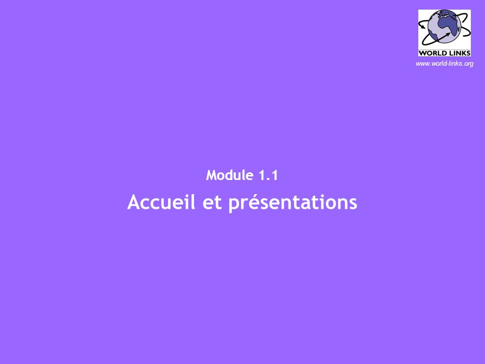 …ouvrir un monde du savoir Centre Local de Formation dInformation et de Communication (CLIC) Guide du Formateur Bamako, Décembre, 2003 Centre Local de
