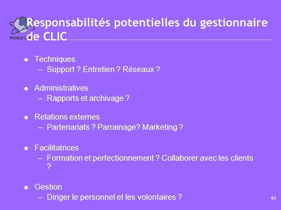 www.world-links.org Module 3.3 Qualités des gestionnaires dun CLIC