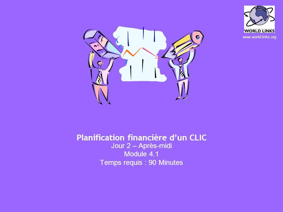 40 Responsabilités potentielles du gestionnaire de CLIC l Techniques –Support ? Entretien ? Réseaux ? l Administratives –Rapports et archivage ? l Rel