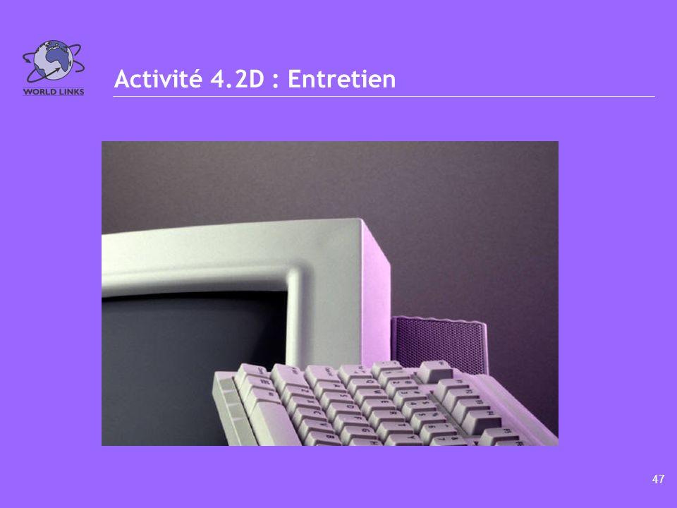 46 Activité 4.2C : Revenus hebdomadaires