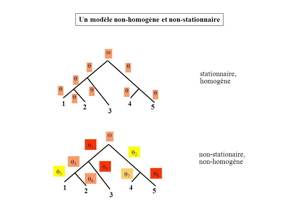 1 2 3 4 5 stationnaire, homogène Un modèle non-homogène et non-stationnaire 1 2 3 4 5 non-stationaire, non-homogène 1 2 4 7 3 5 8 6