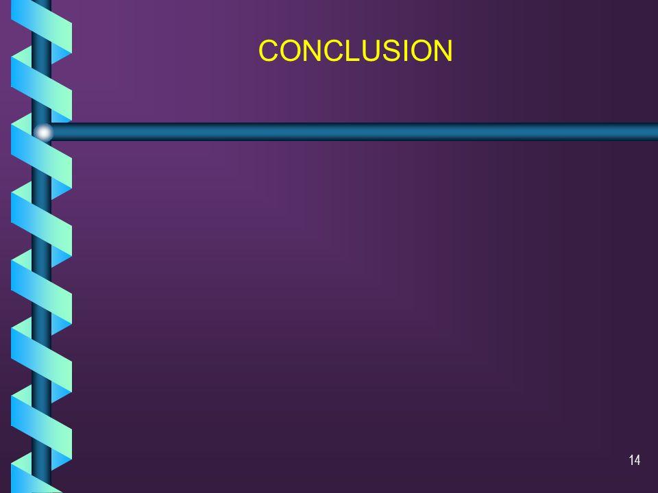 13 Conclusion Bien que le diagnostic de certitude nait pas été posé, la présence dune t(15;17)(q22;q11) nous ne permet pas de remettre en doute ce dia