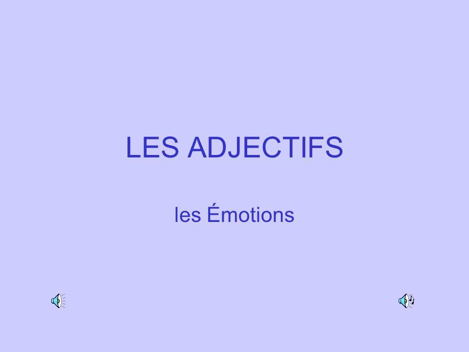 LES ADJECTIFS les Émotions
