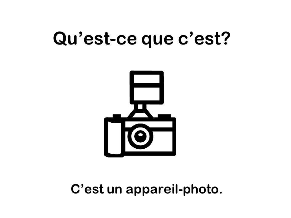 Quest-ce que cest Cest un appareil-photo.