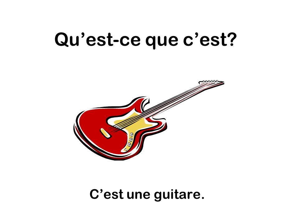 Quest-ce que cest Cest une guitare.