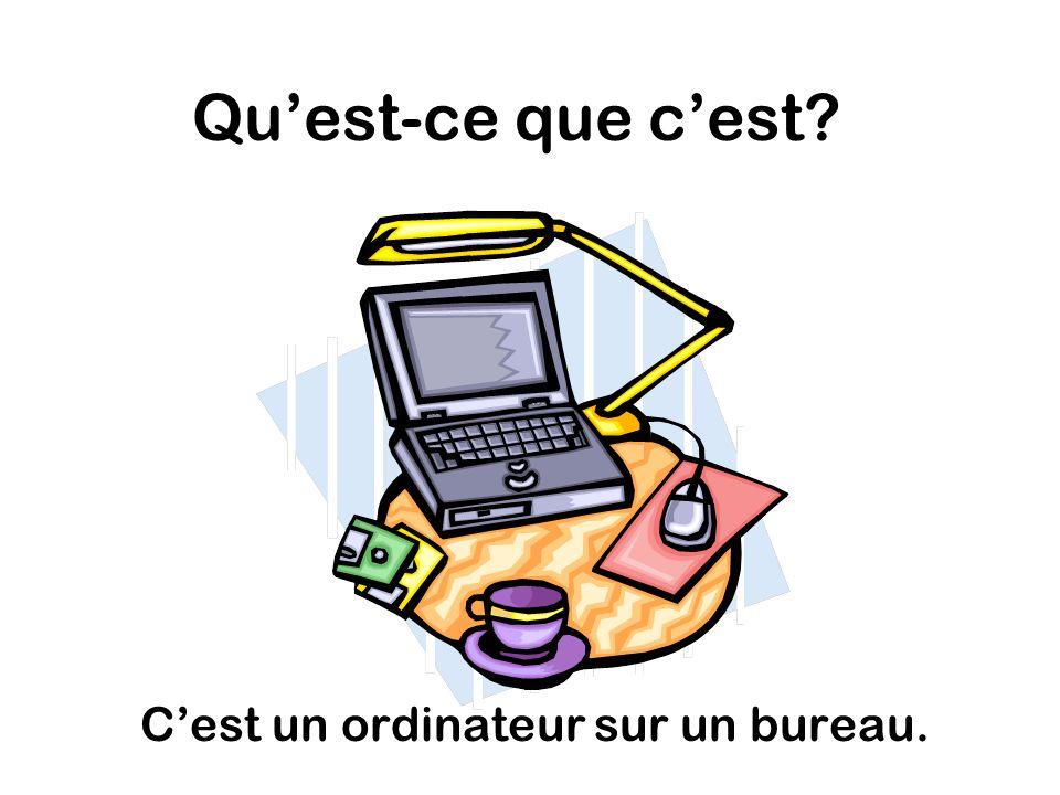 Quest-ce que cest Cest un ordinateur sur un bureau.