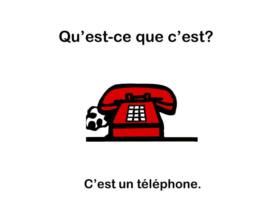 Quest-ce que cest Cest un téléphone.