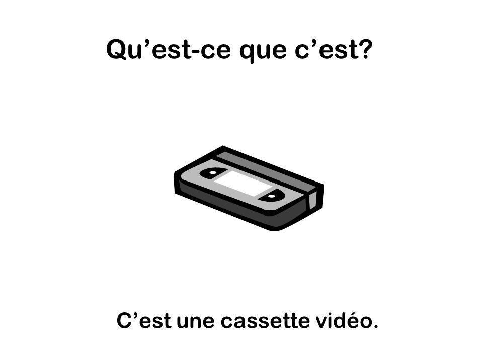 Quest-ce que cest Cest une cassette vidéo.