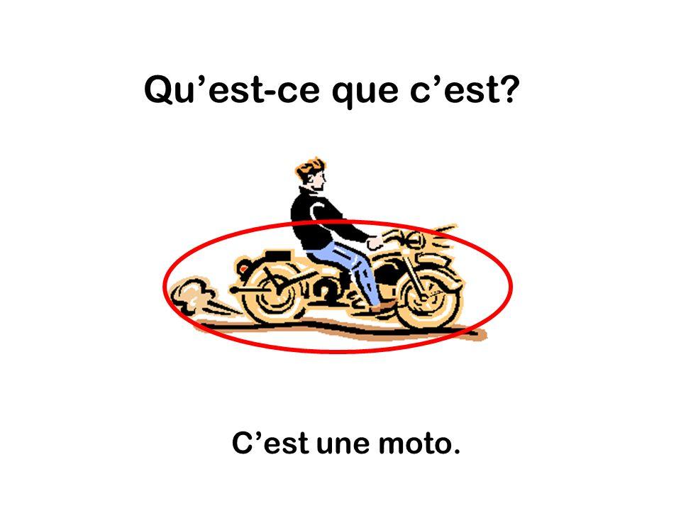 Quest-ce que cest Cest une moto.
