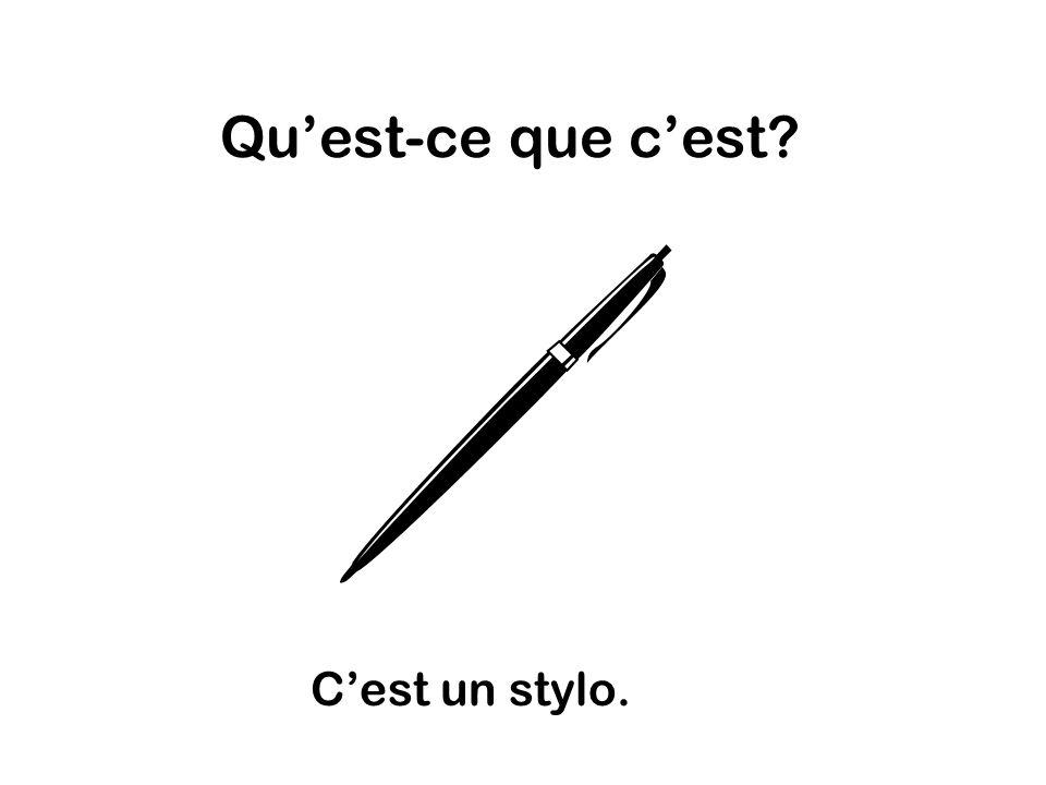 Quest-ce que cest Cest un stylo.