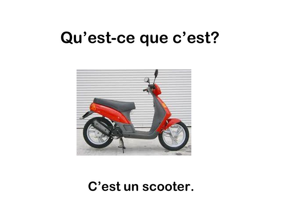 Quest-ce que cest Cest un scooter.