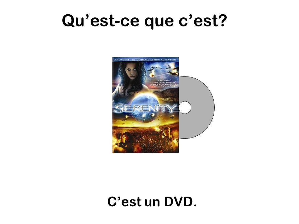 Quest-ce que cest Cest un DVD.