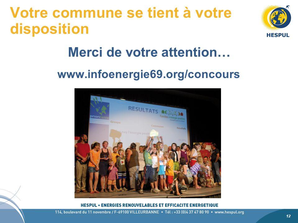 12 Votre commune se tient à votre disposition Merci de votre attention… www.infoenergie69.org/concours