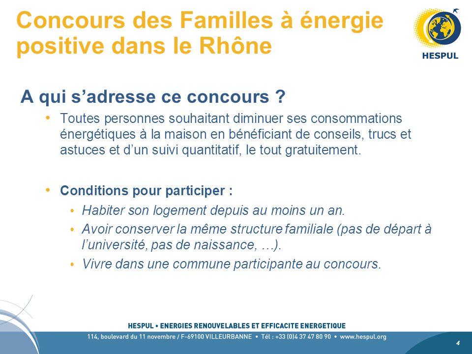 4 4 Concours des Familles à énergie positive dans le Rhône A qui sadresse ce concours .