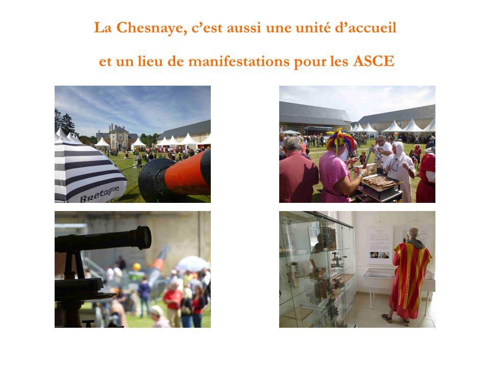La Chesnaye, cest aussi une unité daccueil et un lieu de manifestations pour les ASCE
