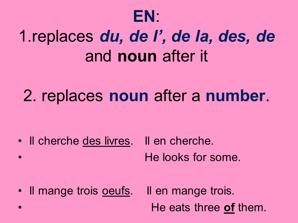 Y: 1.replaces the names of places preceded by a preposition.