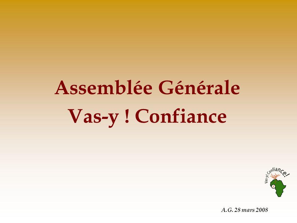 A.G. 28 mars 2008 Assemblée Générale Vas-y ! Confiance