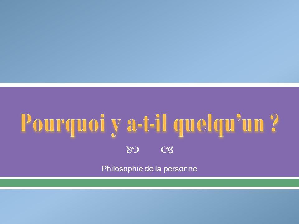 Philosophie de la personne