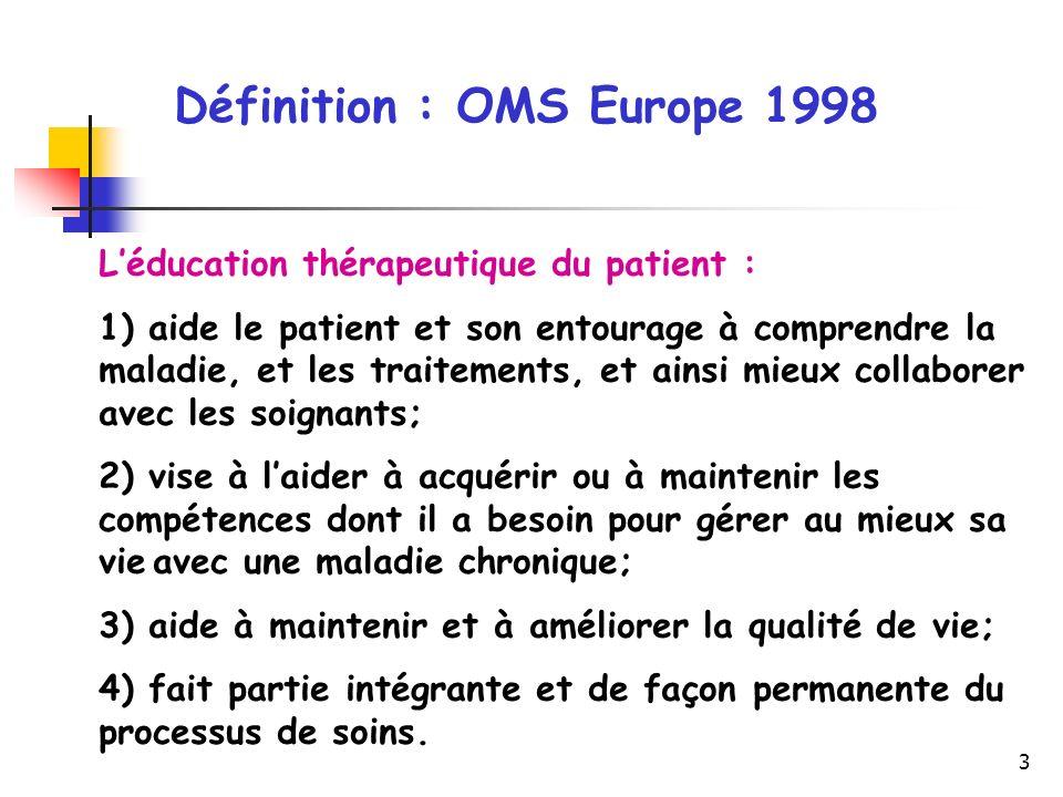 3 Léducation thérapeutique du patient : 1) aide le patient et son entourage à comprendre la maladie, et les traitements, et ainsi mieux collaborer ave