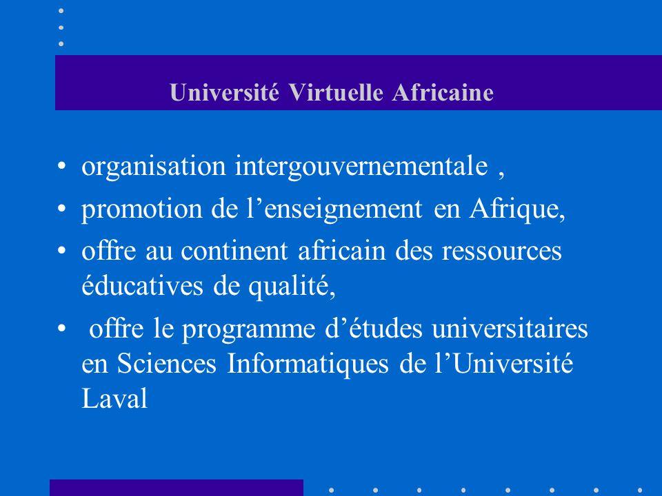 organisation intergouvernementale, promotion de lenseignement en Afrique, offre au continent africain des ressources éducatives de qualité, offre le p
