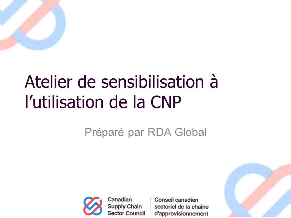 Atelier de sensibilisation à lutilisation de la CNP Préparé par RDA Global