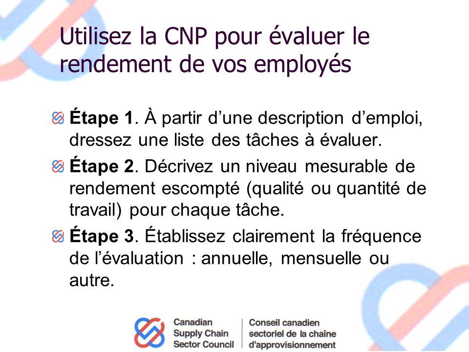 Utilisez la CNP pour évaluer le rendement de vos employés Étape 1.