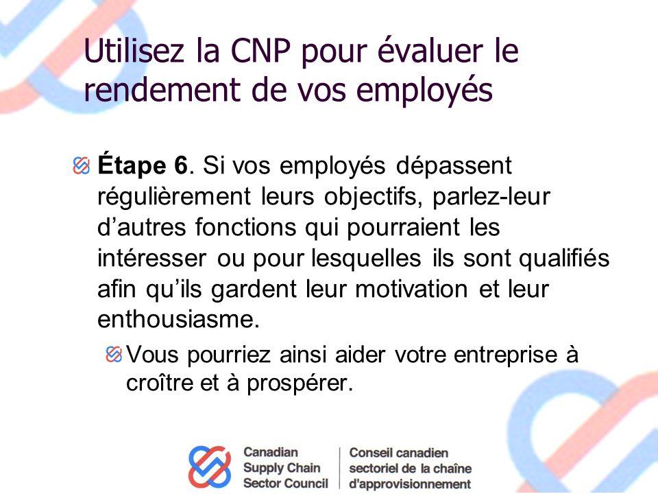 Utilisez la CNP pour évaluer le rendement de vos employés Étape 6.